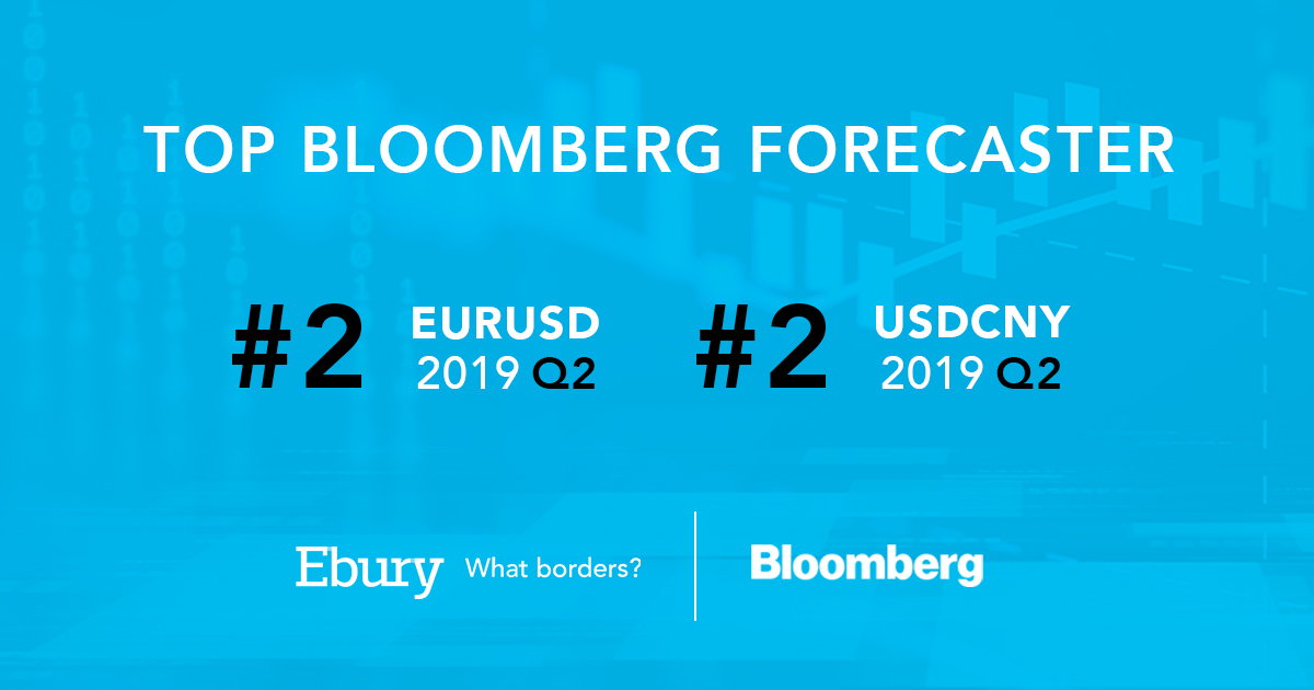 Ebury ranked as #2 EUR/USD and USD/CNY forecaster on Bloomberg