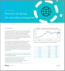 Ebury. Previsión de divisas de mercados emergentes, sept.2015 hasta 2017