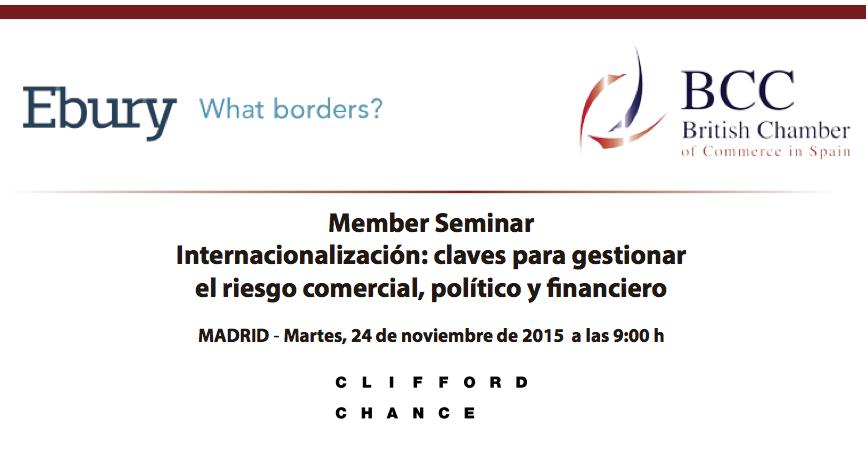 Evento sobre internacionalización: claves para gestionar el riesgo comercial, político y financiero