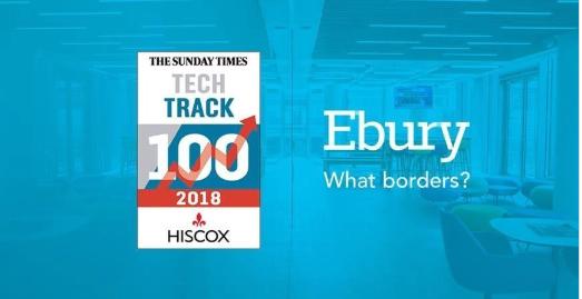 Ebury, en el Tech Track 100 por tercer año consecutivo